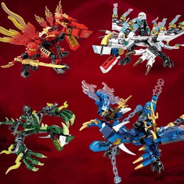 레고 호환 닌자고 시리즈 드래곤 4종 세트 상품이미지