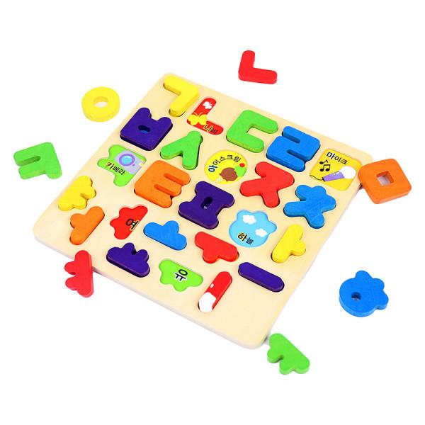 원목교구 한글 입체 퍼즐/판퍼즐 상품이미지