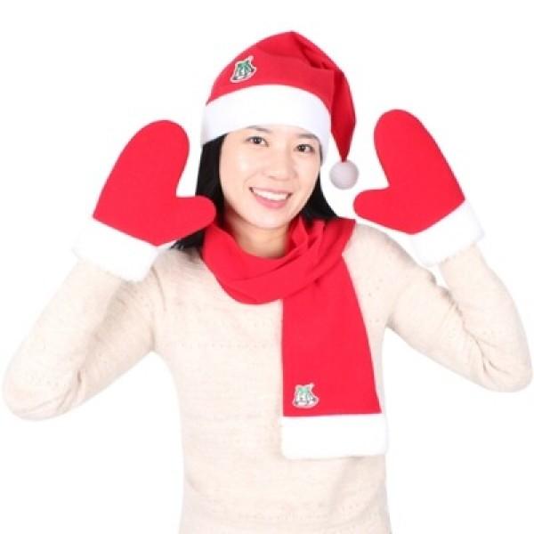 산타의상세트 여성용(모자+목도리+장갑)고급 상품이미지