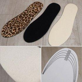 국산 밍크 깔창-여성용(양털 신발 구두 운동화 보온)