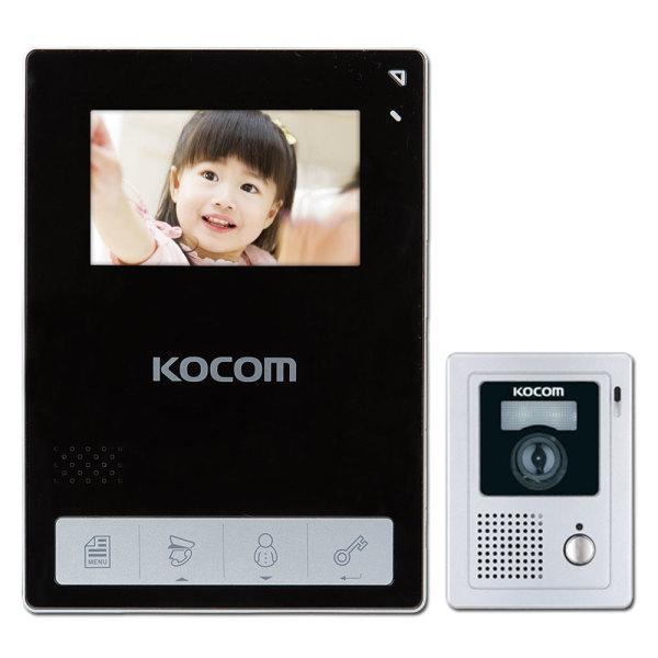 정품 KCV-434+초인종KC-C60 비디오폰 인터폰 -블랙 상품이미지