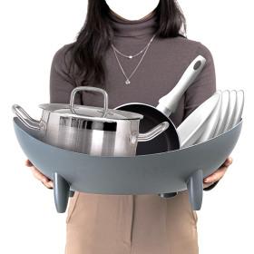 커브 와이드 물빠짐 식기건조대 대용량 식기건조기