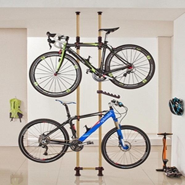 (크랭키 자전거거치대 우드) 자전거행거 자전거보관 상품이미지