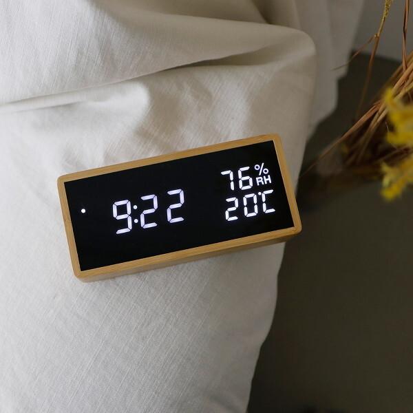 티메이드 리얼우드 LED시계 - 온습도표시 상품이미지