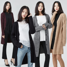 클레라슬림롱가디건 니트/패딩/기모