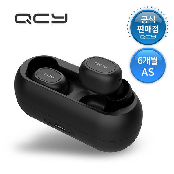 QCY T1 TWS 5.0 블루투스 무선 이어폰 블랙 6개월 as 상품이미지