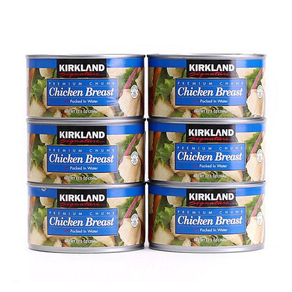 커클랜드 닭가슴살 통조림 354gx6개 치킨 샐러드 캔 상품이미지