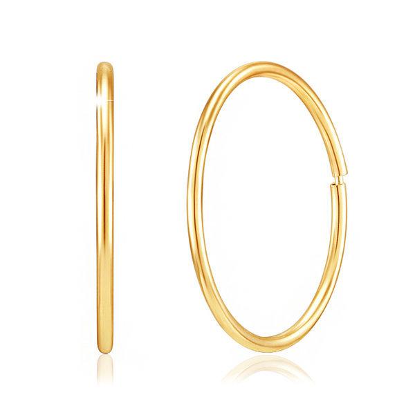 14K GOLD 파이프링 이어링 단독 신상입고 상품이미지