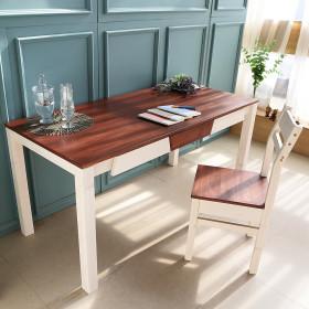 아이비 컬러 원목책상 사무용 컴퓨터책상 원목테이블
