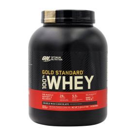 Optimum 100% 웨이 프로틴 더블 리치 초콜릿 74 서빙 단백질 보충제 2.27 kg  빠른직구
