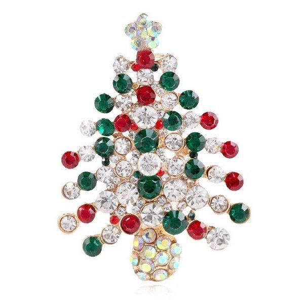 크리스마스 트리 라인석 브로치 상품이미지