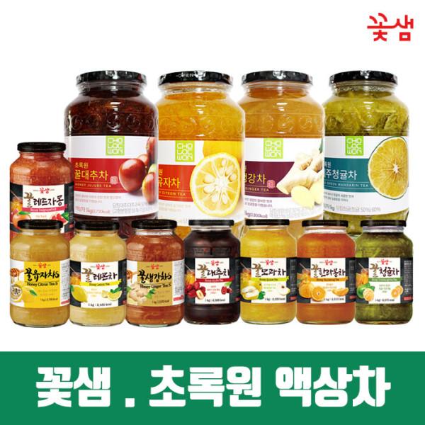 (1+1) 꽃샘 초록원 액상차/유자차/생강차/대추차/청귤 상품이미지