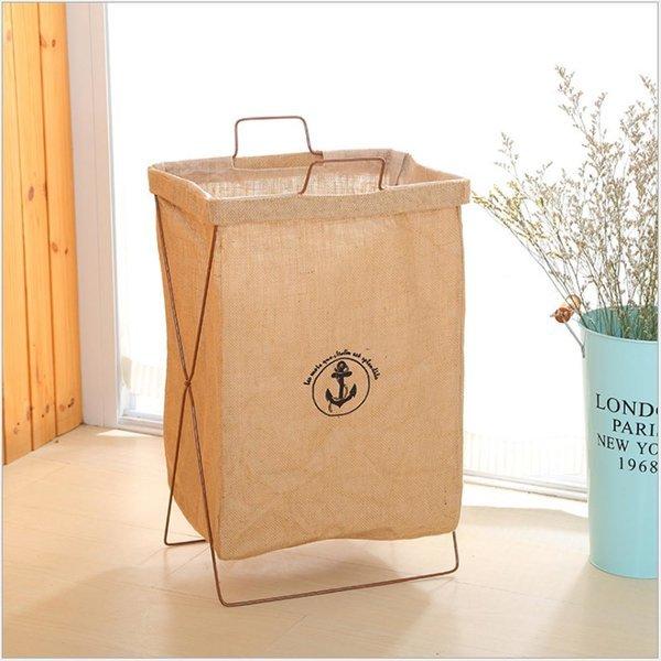 빨래 세탁 라탄 바구니 정리함 용품 / 라탄 브라운 상품이미지