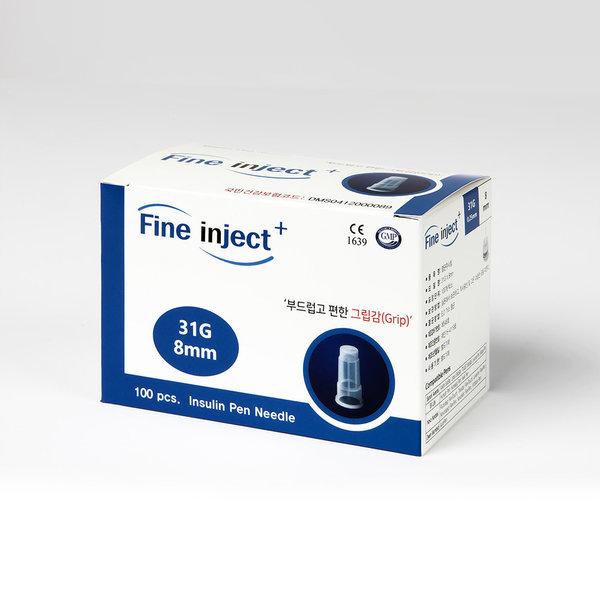 인슐린케어 펜니들 멸균주사침 8mm 31G(100개입) 상품이미지