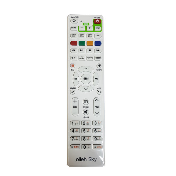 Olleh tv SkyLife삼성/엘지kt셋톱박스리모컨 콤보3010 상품이미지