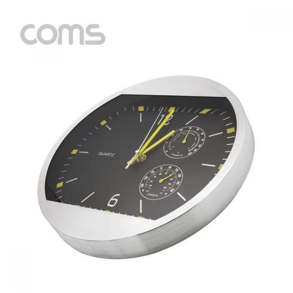 시계(아날로그)  벽걸이원형 블랙 - 30cm 온도 습도 상품이미지