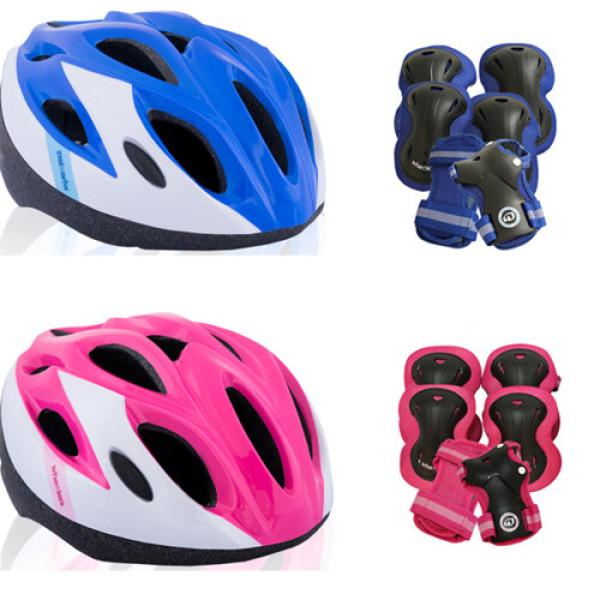 휠러스 인라인 자전거 아동 헬멧 + 보호대 세트 상품이미지