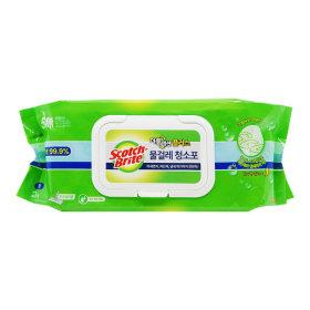 대형 물걸레 더블액션 청소포 20매