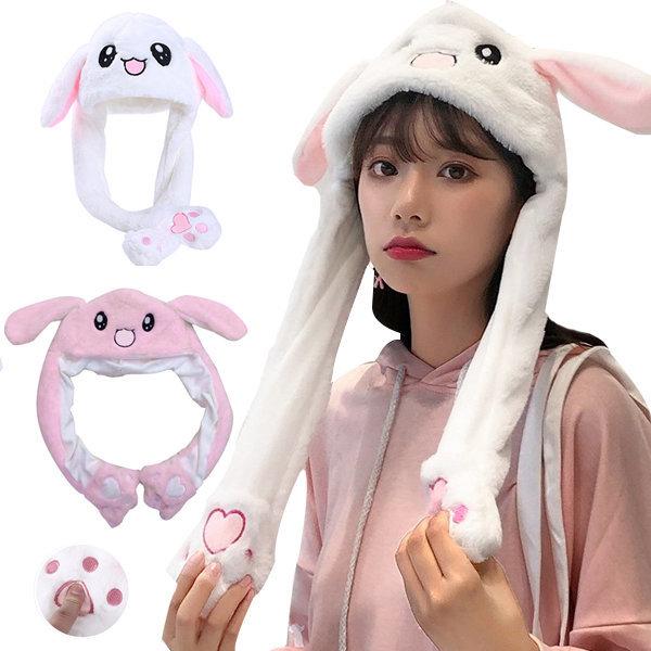 움직이는 토끼모자 토끼귀모자 털모자 아동 유아모자 상품이미지