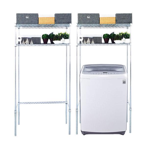 국산세탁기메탈선반2단수납장750 바구니형 김치냉장고 상품이미지