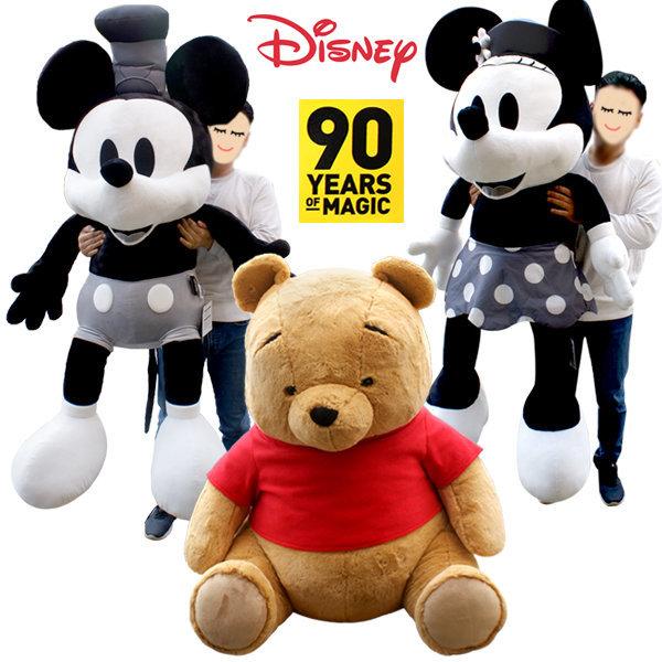 디즈니 미키마우스 90주년 인형 미니마우스 곰돌이 푸 상품이미지