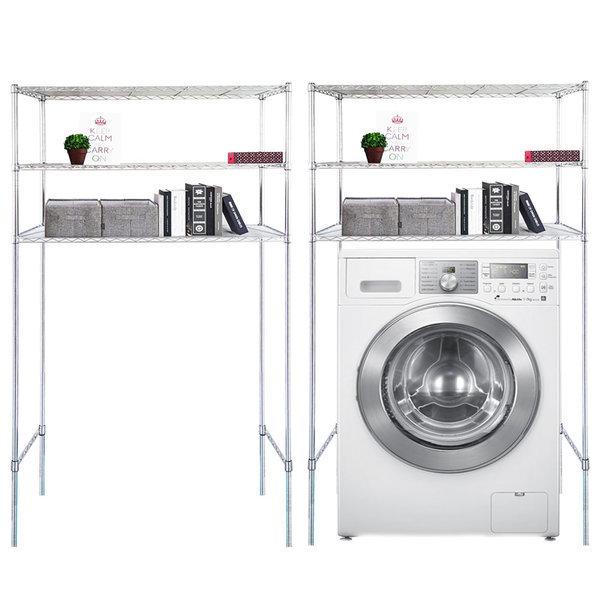 국산세탁기메탈선반3단수납장1200 김치냉장고선반겸용 상품이미지