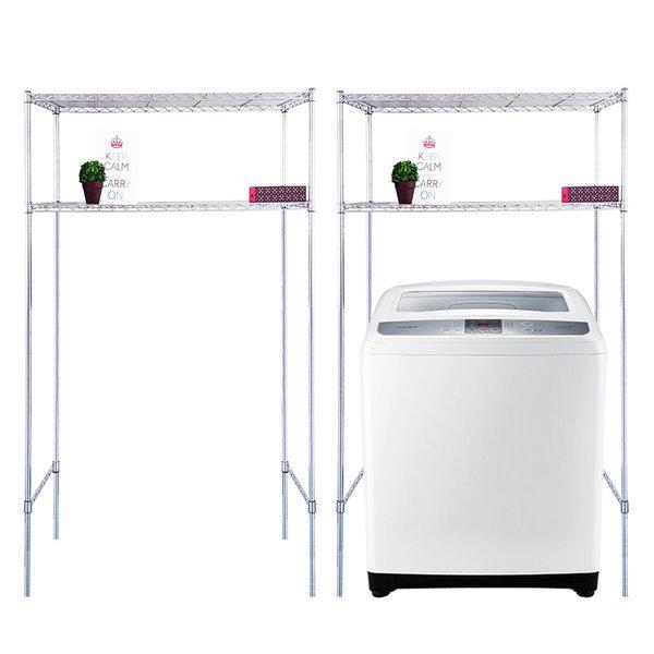 국산세탁기스텐선반2단수납장900 김치냉장고선반겸용 상품이미지