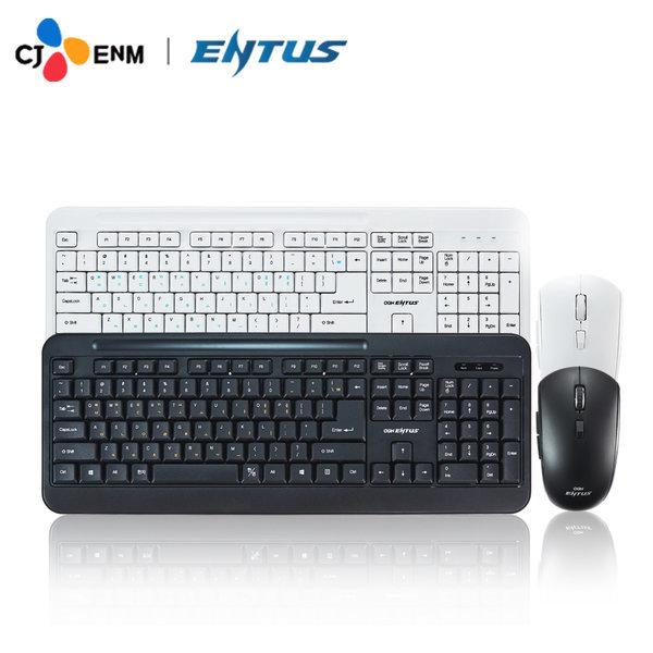 CJ EnM OGN-WKM10 ENTUS 무선 키보드 마우스세트 블랙 상품이미지