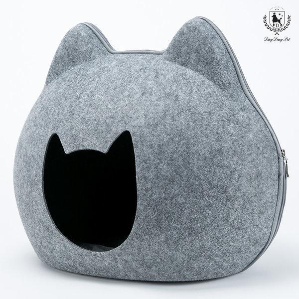 딩동펫 고양이 하우스 숨숨집_냥이로우_그레이 상품이미지