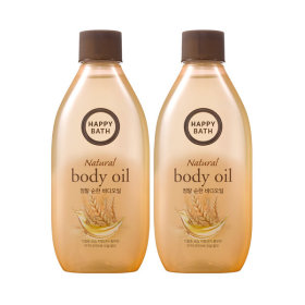 HAPPY BATH Real Mild body oil 250ml X2pcs