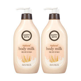 HAPPY BATH Real Mild Body Milk 450ML X2pcs