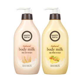 HAPPY BATH Real moisture+mild body milk