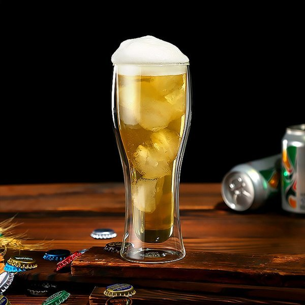 로하티베스트 이중 유리컵 맥주컵(400ml) 상품이미지