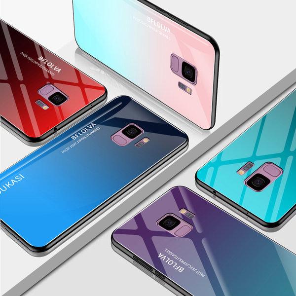 LG G7 케이스 그라데이션 강화유리 하드 핸드폰케이스 상품이미지