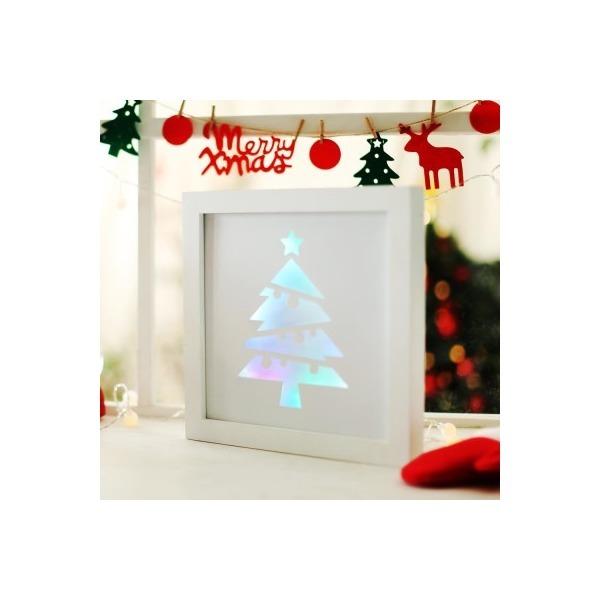 LED 크리스마스장식 액자 (홀로그램 트리) 상품이미지