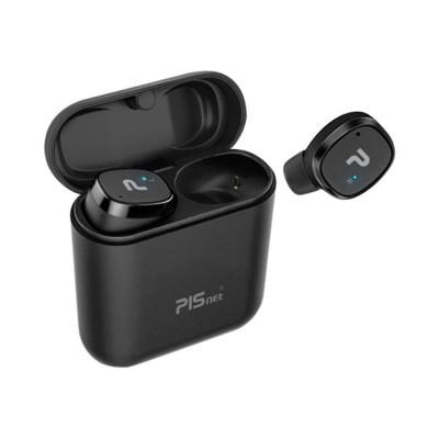 No disconnection Bluetooth earphones PISnet FreeSlim ultra slim Black