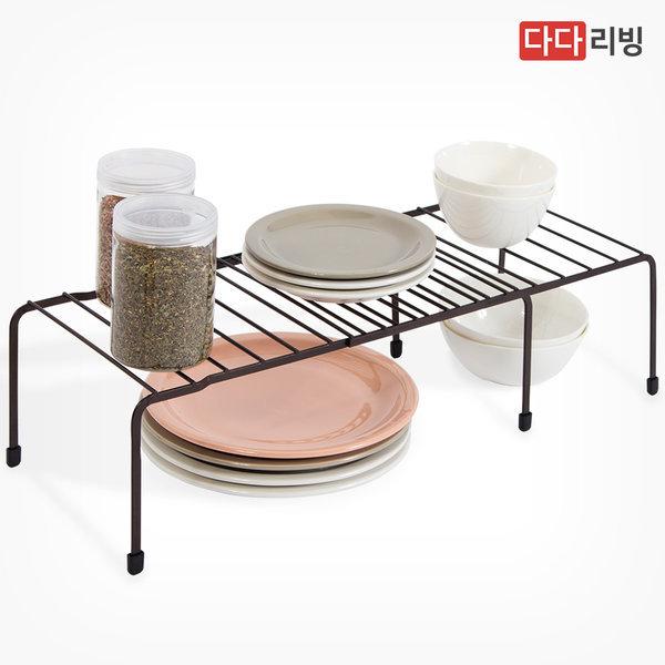 클래식 주방 선반 확장형 (브라운) /싱크대 접시 정리 상품이미지