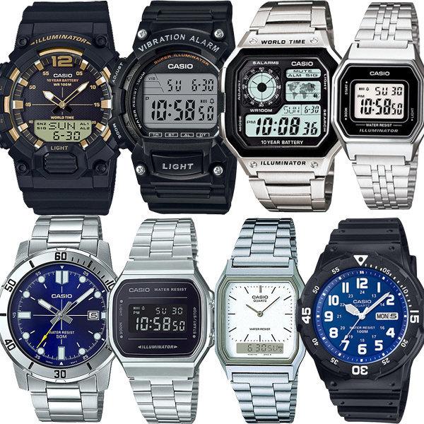 카시오정품 전자손목시계 남성여성 군인군용학생 방수 상품이미지