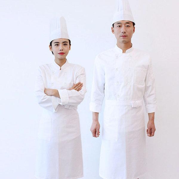 조리사시험복/쉐프복/위생복/요리사복 앞치마+모자증정 상품이미지