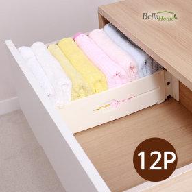플라스틱 서랍정리 칸막이 12P세트 속옷정리 서랍장