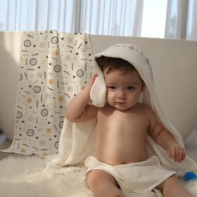 토토리 양면 아기목욕타올 1장  속싸개 블랭킷