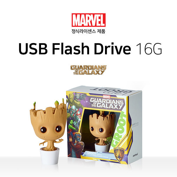 MARVEL 정품 어밴져스 USB메모리 16GB (그루트) 상품이미지