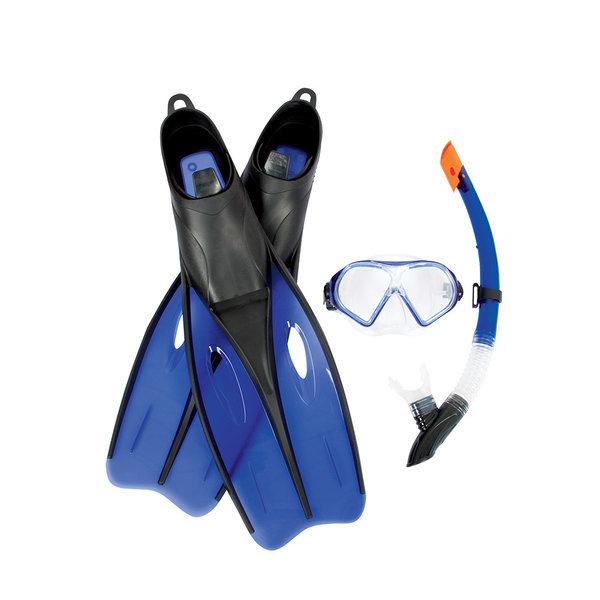 BW 25023 특급성인스노클셋+오리발 XL(블루)/물안경 상품이미지