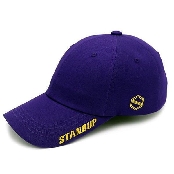 (스탠드업)  스탠드업 바이저스탠드업 옐로우퍼플 볼캡 상품이미지