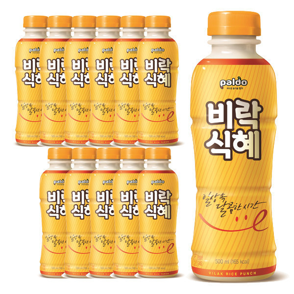 비락식혜500mlX12입/식혜/음료/전통음료/팔도식혜 상품이미지