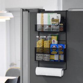 와이드 매직 주방 냉장고 틈새 공간 활용 철제 선반
