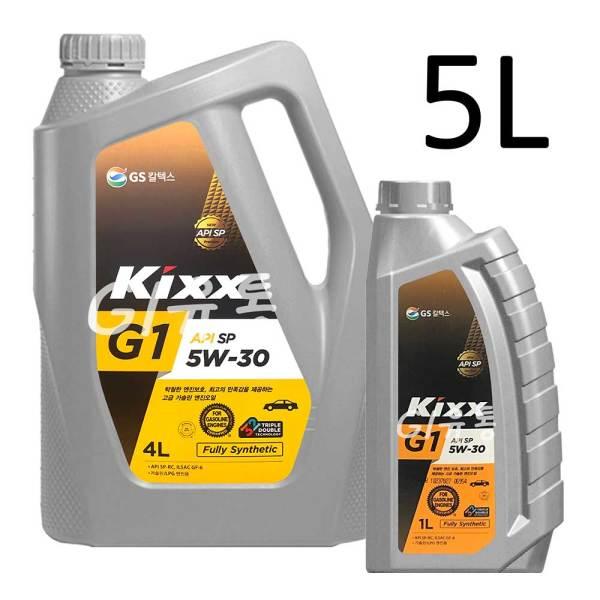 킥스 Kixx G1 PLUS 5W-30 4L 1개+1L 1개 합성 엔진오일 상품이미지