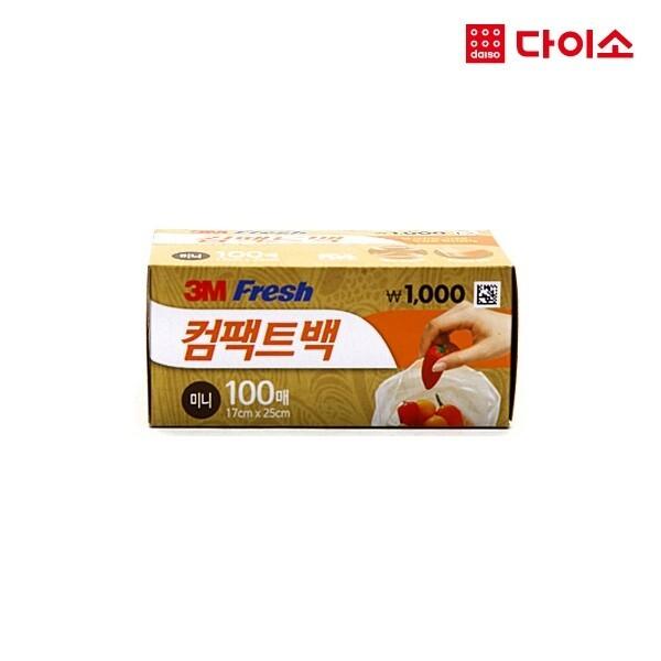 다이소 3M후레쉬컴팩트백미니100매-1018175 상품이미지
