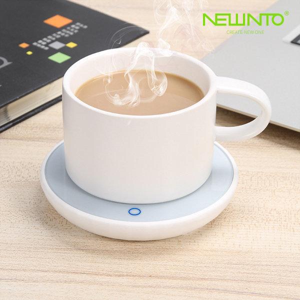 마이크로 컵받침대 항온 보온받침대 커피우유차 온도 상품이미지