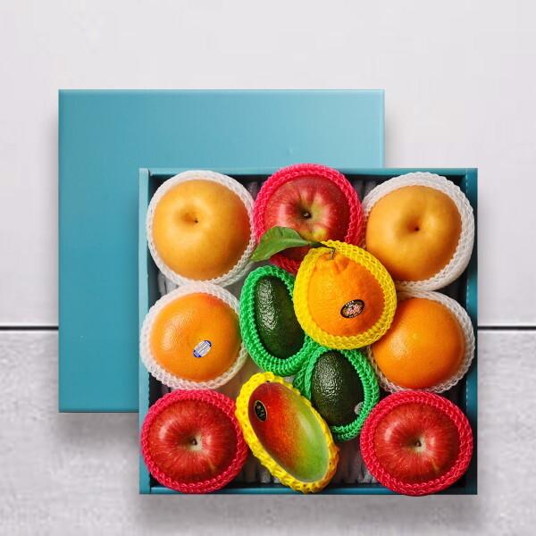 누리원  명작 과일선물세트 (사과3/배2/아보카도2/오렌지2/용과1/망고1) 상품이미지